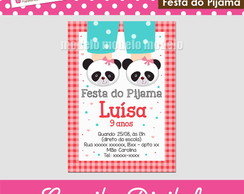 Convite digital - Festa do Pijama