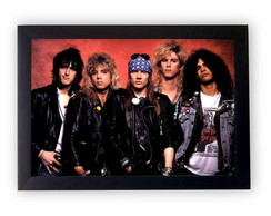 Quadro Decorativo Guns'n Roses + Moldura