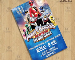 Arte Digital Convite -Power Rangers 2