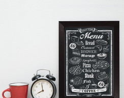 Quadro Decorativo MDF Frase Menu