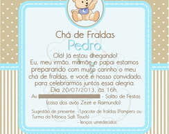 Convites De Chá De Fraldas Elo7