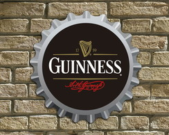 "Placa Decorativa Tampinha ""Guinness"""