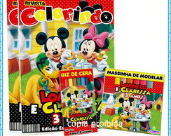 kit colorir Mickey e a Turma