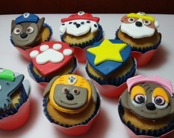 Mini Cupcake decorado Patrulha Canina