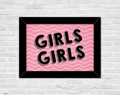 Poster c/ Moldura A4 - Girls Chevron
