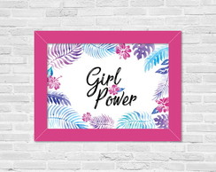 Quadro A4 Girl Power - Horizontal