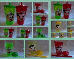 Copo Shake com Canudo de 500ml Personagem Infantil