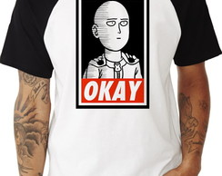 Camiseta Raglan One Punch Man #6 Okay