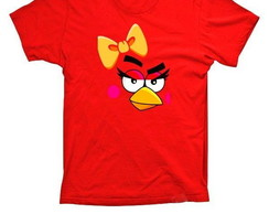 Camiseta Angry Birds Red Fêmea