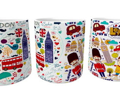 Caneca Londres - Porcelana 350ml 1716