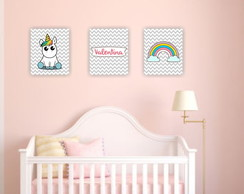 Kit placas decorativas infantil