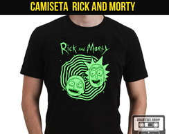 Camiseta Rick and Morty Cartoon Desenho