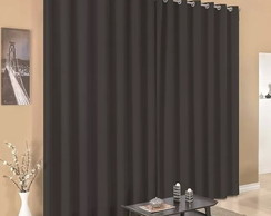 Cortina Blackout3,00x2,70 Ilhos Preto