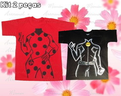 Kit 2 Camisetas Lady bug e amigos