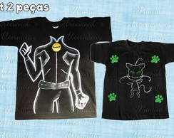 Kit 2 Camisetas Catnoir e amigos