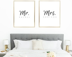 Quadro Digital - Mr. & Mrs. Nomes