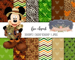 Papel Digital Mickey Safari