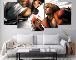 Kit Quadro decorativo street fighter