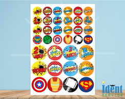 Kit Digital Topper Super Heroi Tag