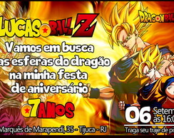 CONVITE DIGITAL DRAGON BALL Z