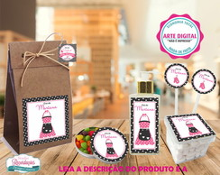 Kit Digital de Rótulos - Avental Rosa