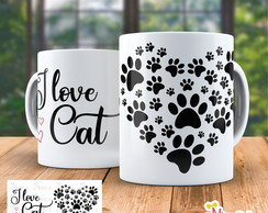 Caneca I Love Cat