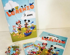 Kit Colorir + Sacola - Turma do Mickey