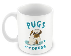 Caneca Pugs Not Drugs 2
