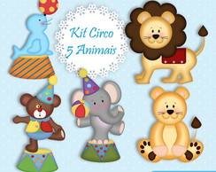 Kit Digital Circo Animais - Mod 07