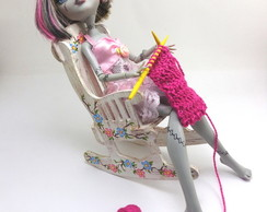 Cadeira para Monster High - com tricô