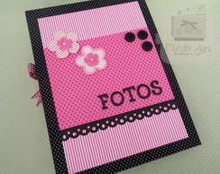 Album scrap - modelo com plásticos