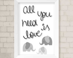 Quadro A4 - All You Need is Love