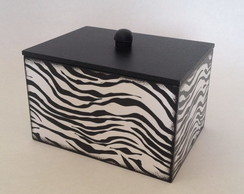 Caixa Decorada Animal Print Zebra