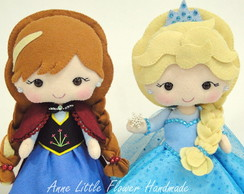 Kit Anna e Elsa do Frozen Luxo de Feltro