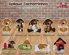 Aplique Cachorrinhos 2,5 cm