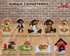 Aplique Cachorrinhos 5 cm