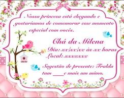 Convite Chá De Bebê Jardim Elo7