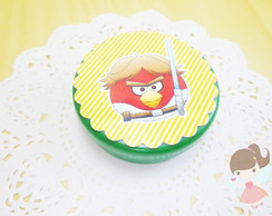 Lembrancinha Angry Birds Latinha mint to be colorida
