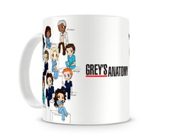 Caneca Grey's Anatomy Personagens