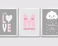 Kit de Quadros Infantis-Little Love