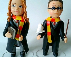 Harry Potter e Hermione 15cm