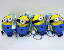 Chaveiro Minions em biscuit