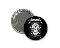 Botton Metallica - 25mm