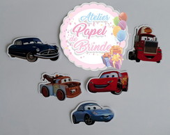 Aplique Scrap Carros Disney