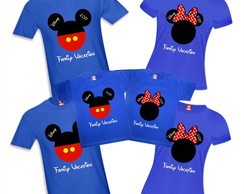 Kit Camiseta Mickey e Minnie Disney