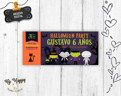 Convite digital ingresso halloween