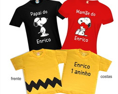 Kit Camiseta Snoopy e Charlie Brown