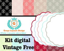 Kit digital papel vintage