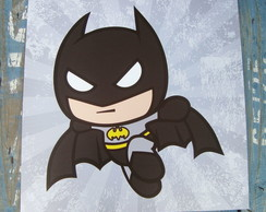 Placa Batman Kawaii 35X35cm
