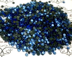 Strass 4mm Azul Safhira.